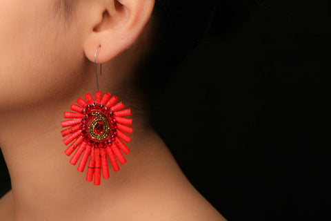 Keri Colourful Earrings by Paperjewelz