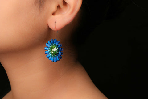 Bling flower small Earring by Paperjewelz