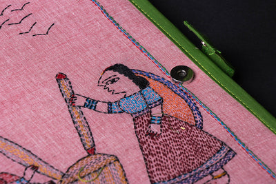 Traditional Sujani Embroidery Work File Folder