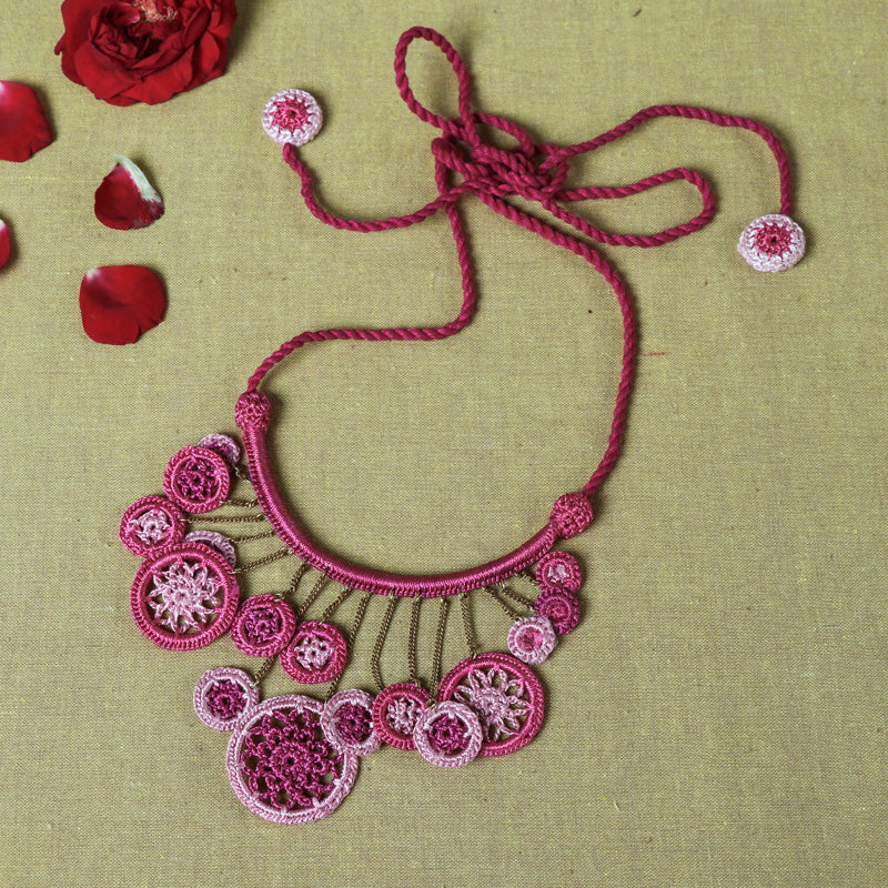 Handmade Flower Crochet Necklace