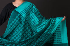 Special Handwoven Pochampally Ikat Silk Dupatta with Zari
