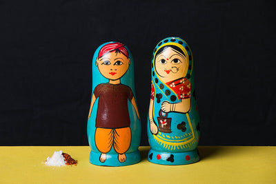 Handpainted Wooden Salt & Pepper Shaker (set of 2)