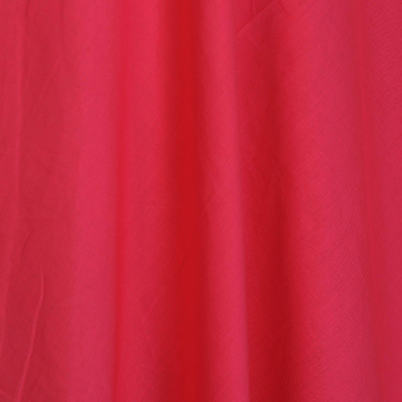 Pink - Pre Washed Plain Dyed Pure Cotton Fabric (Width - 44 in)