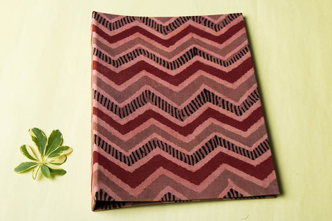 Block Printed Fabric Embellished Ring File Folder