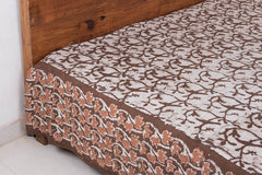 Block Art Prints Natural Dyed Cotton Double Bedcover by Bindaas Unlimited (110 x 114 inches)