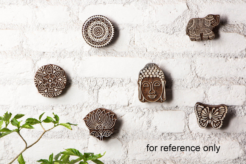 Wall Hanging Hand Carved Sheesham Wood Block (Medium)