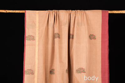 Special Kanchipuram Handloom Cotton Saree with Blouse