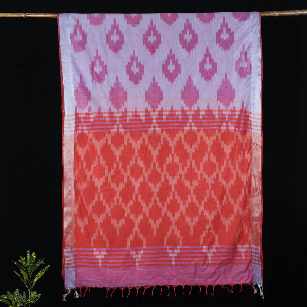 Bhagalpuri Cotton Ikat Pattern Weave Saree