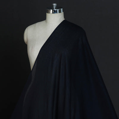 Black - Pre Washed Plain Lining Cotton Mul Fabric (Width - 46 in)