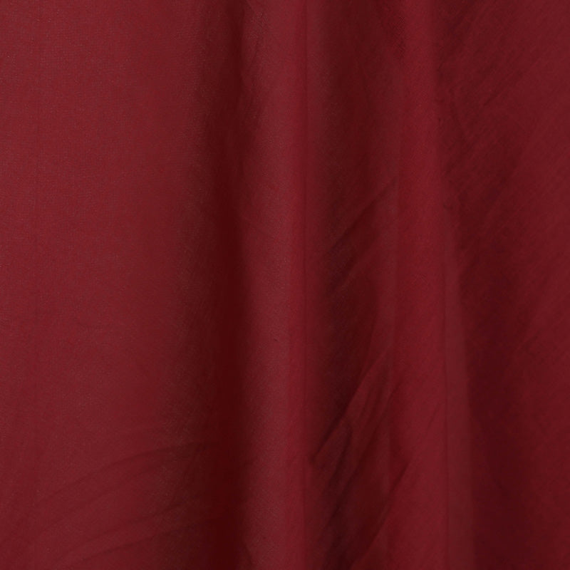 Maroon - Pre Washed Plain Lining Cotton Mul Fabric (Width - 46 in)