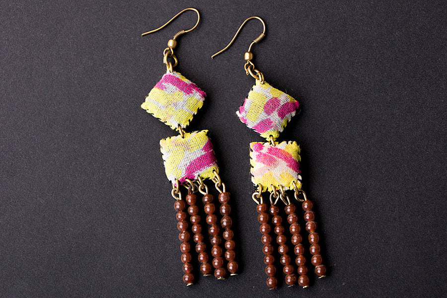 Fabart Work Earrings by Mool Creations