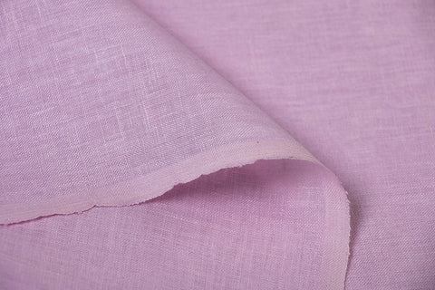 Mauve Pink - Handwoven Pure Linen Fabric from Bhagalpur