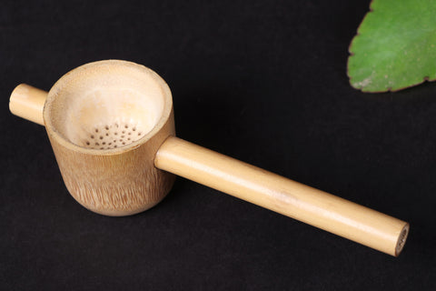 Handcarved Natural Bamboo Wood Tea Strainer