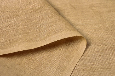Gold - Handwoven Pure Linen Fabric from Bhagalpur