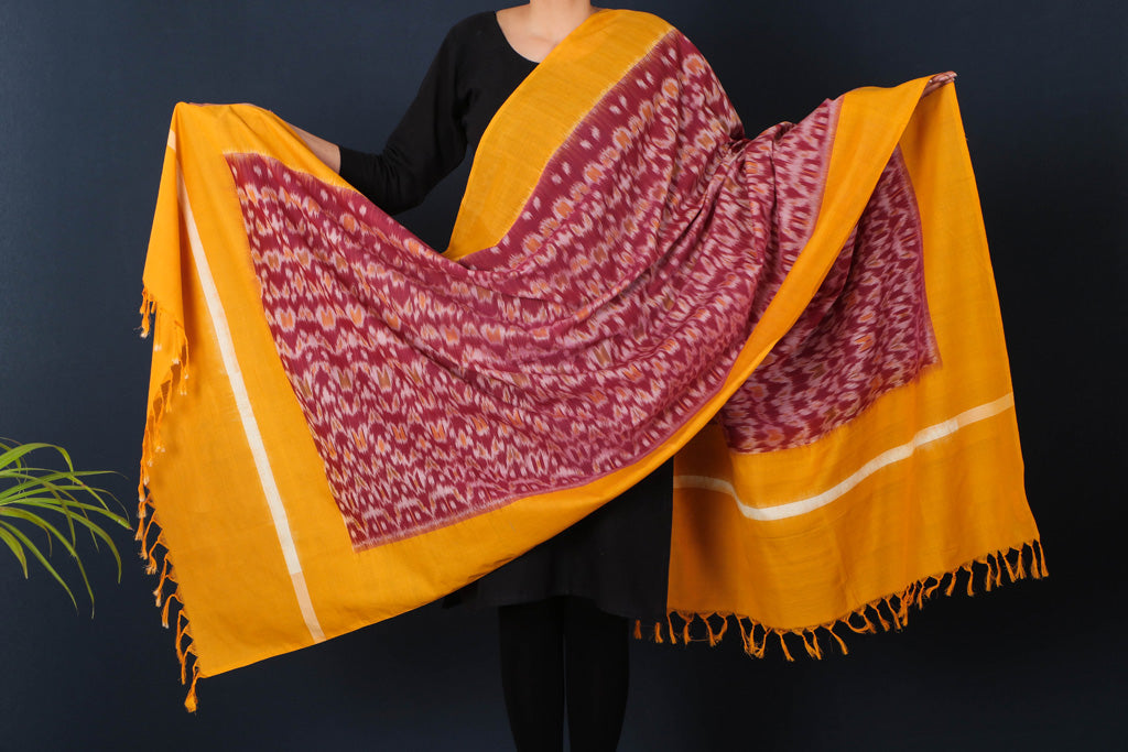 Pochampally Ikat Fine Cotton Handloom Dupatta