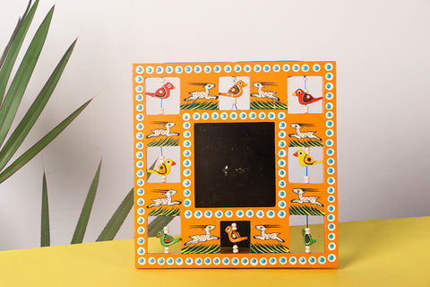 Handpainted Wooden Animal Photo Frame (Small)