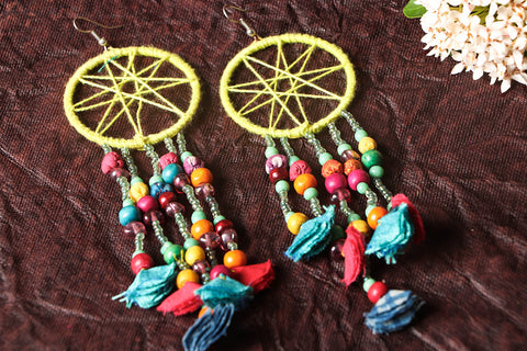 Special Dream Catcher Earrings by Jugaad