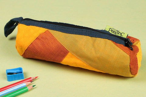 Jugaad Patchwork Cotton Pencil Pouch