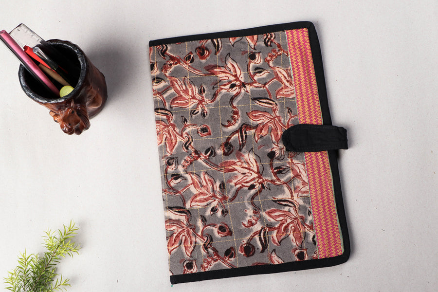 Handmade Kalamkari Printed File Folder by Jugaad