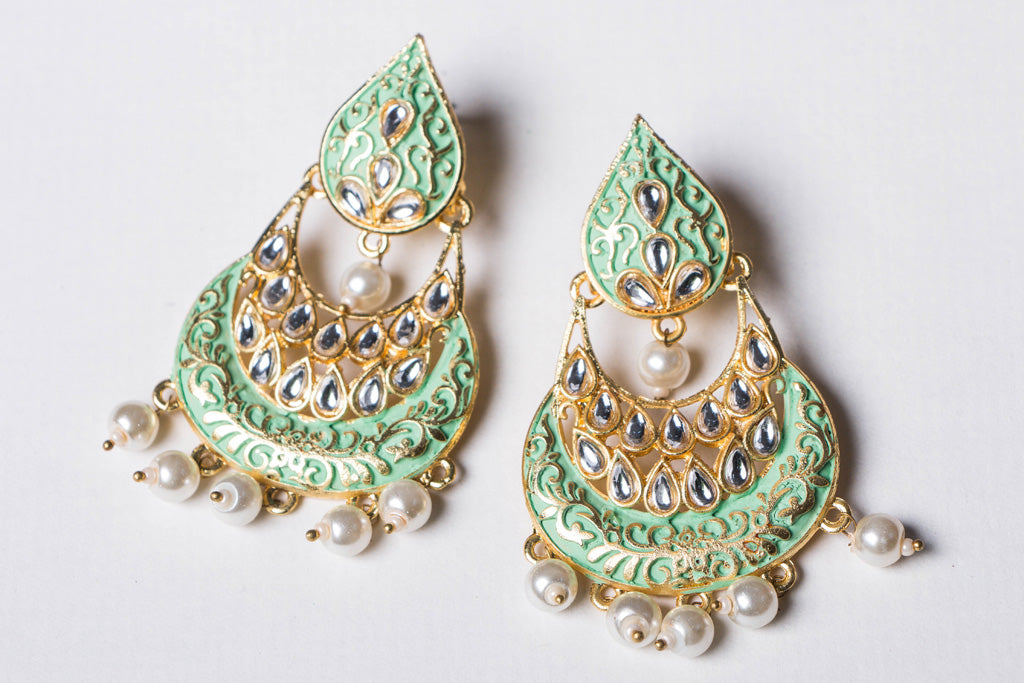 Gold Tone Special Brass Base Earrings