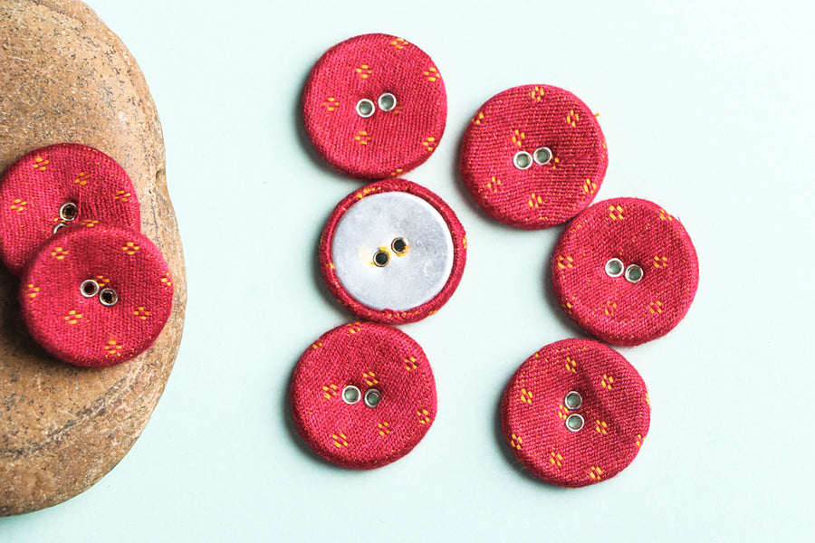 Buttonbaaz Handmade Button Big (Set of 8)