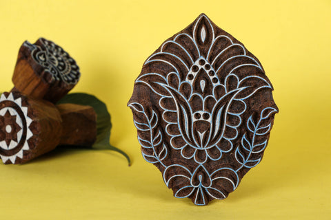 Hand-carved Teak Wood Block by Gangadhar (Big)