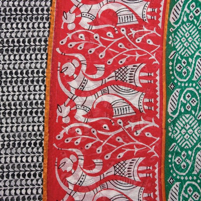 Printed Silk Cotton Pre Washed Fabric