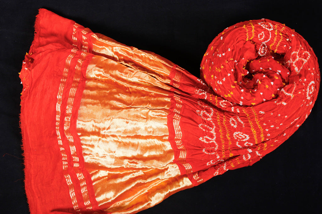 Traditional Dani Bandhani Pure Gajji Silk Saree