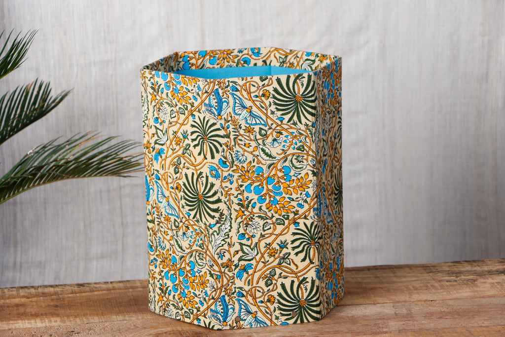 Sukirti Handmade Collapsible Waste Paper Bin - 12in x 10in