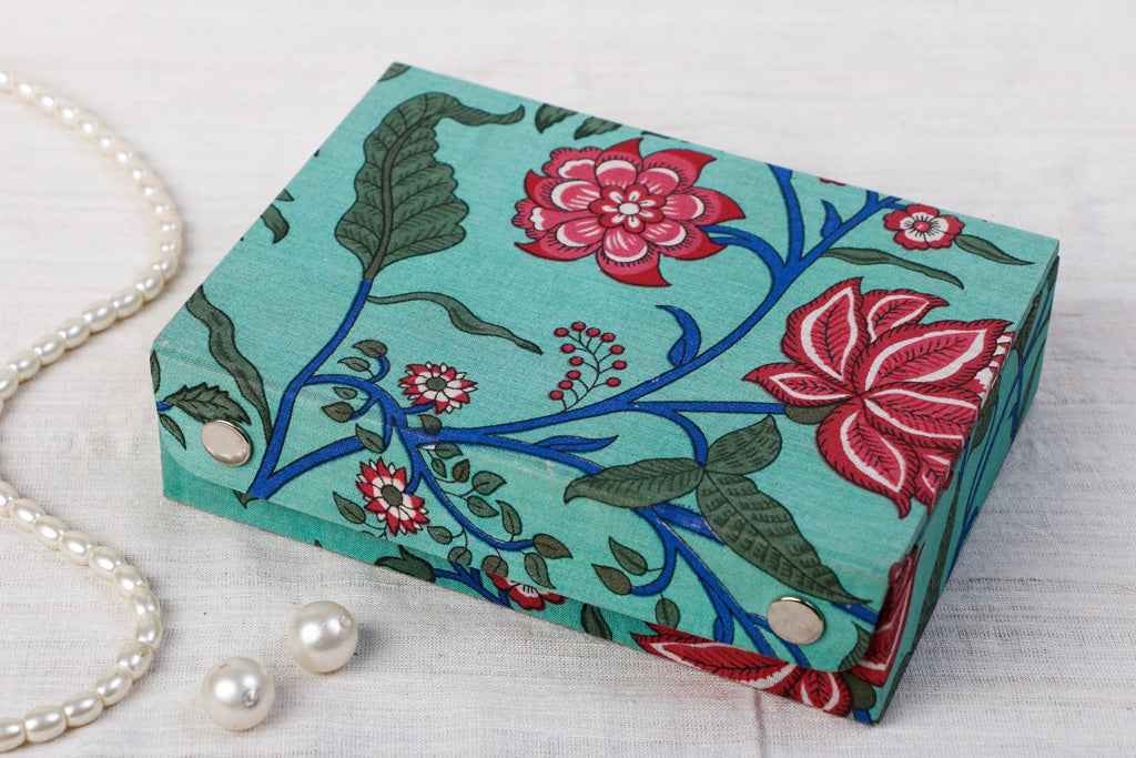 Sukriti Handmade Printed Fabric Jewelry Box (Small)