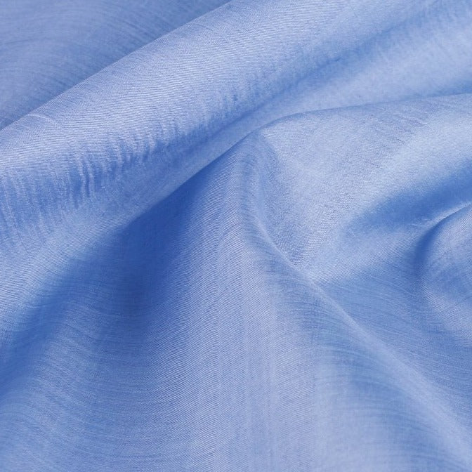 Sky Blue - Organic Handspun Handwoven Pure Mulberry Silk Fabric