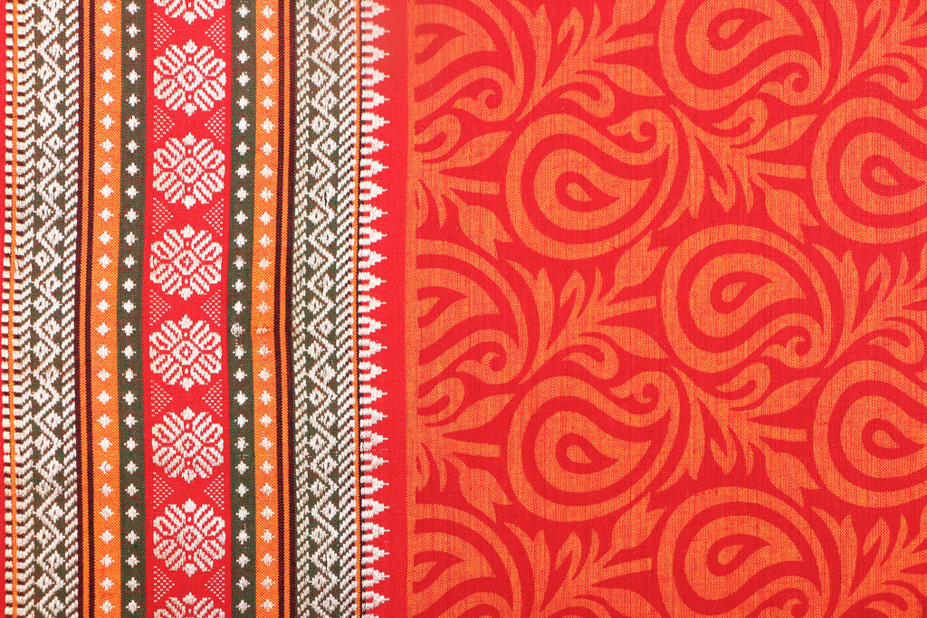Pre Washed South Cotton Printed Fabric with Border