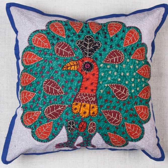 Jogi Embroidery Patchwork Cotton Cushion Cover