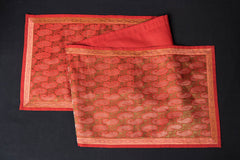 Traditional Pure Banarasi Handwoven Silk Zari Table Runner (55in x 13in)