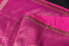 Traditional Pure Banarasi Handwoven Silk Zari Table Runner (45in x 13in)