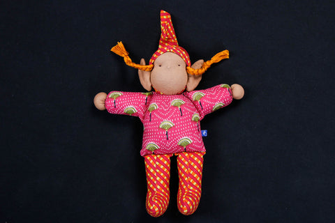Handmade Blue Mango Stuffed Toy - Tibetan Bhuti Doll
