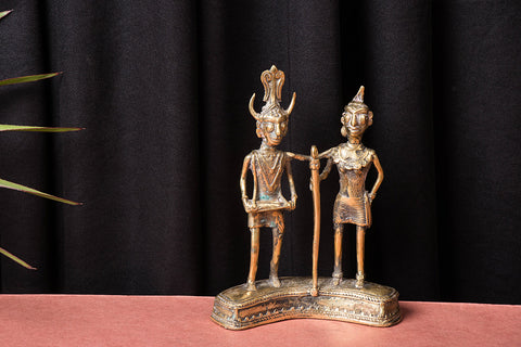 Tribal Bastar Dokra Craft - Madhiya Maadin (set of 2)