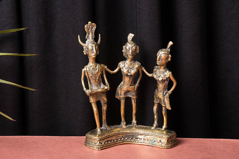 Tribal Bastar Dokra Craft - Madhiya Maadin (set of 3)
