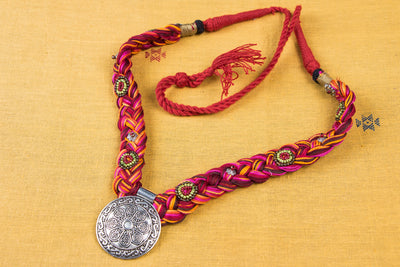 Chammak Challo Thread Dori Bead Work Necklace