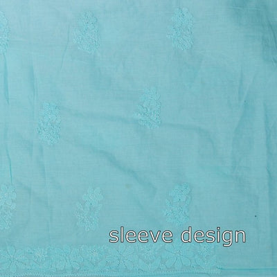 Chikankari Hand Embroidered Pure Cotton Kurta Material