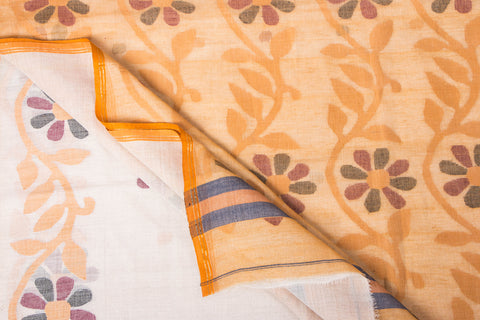Handloom Dhakai Jamdani Pure Cotton Saree from Nadia