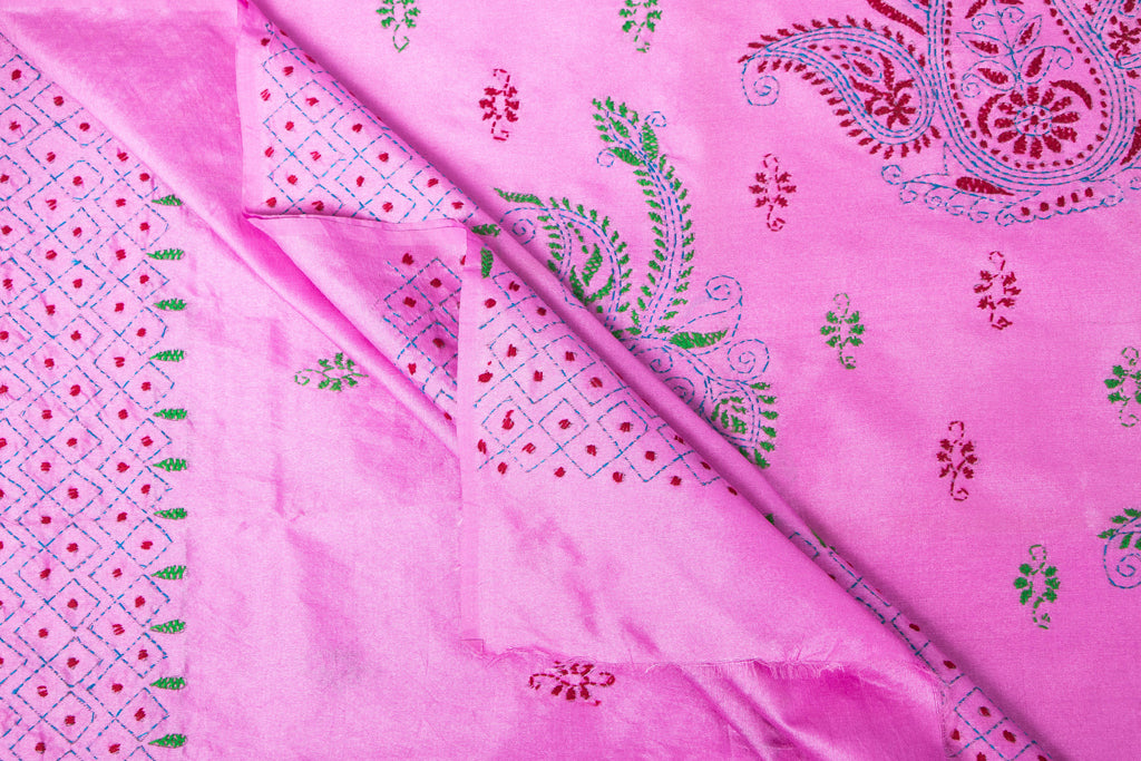 Handloom Kantha Work Cotton Saree from Nadia