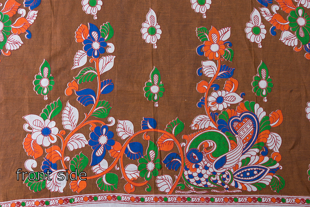 Kalamkari Printed Silk Cotton Blouse Piece