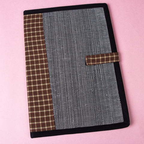 Handcrafted Denim & Audio Tape File Folder by Green by Goonj
