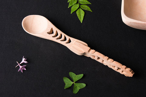 Handmade Udayagiri Wooden Small Serving and Cooking Spoon