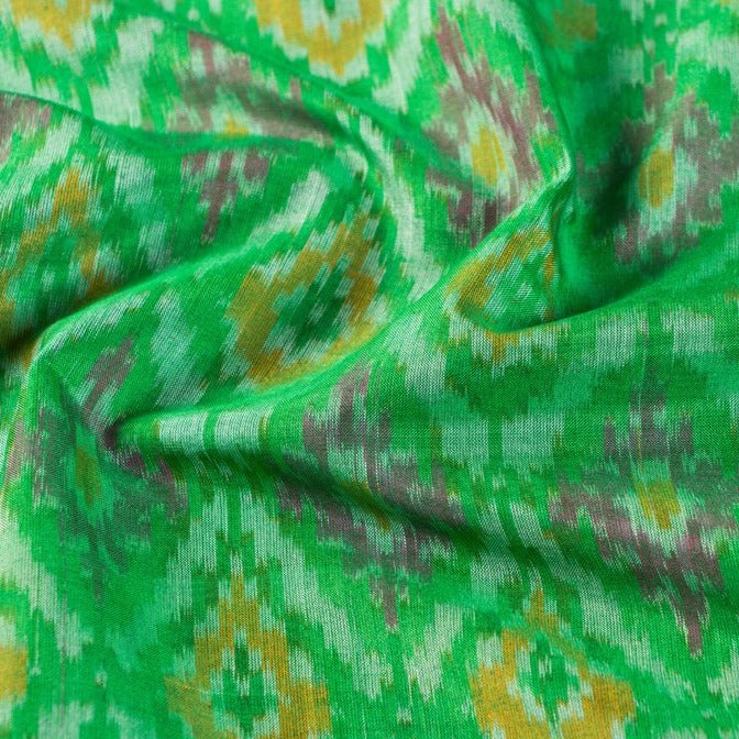 Traditional Pochampally Woven Ikat Handloom Silk Cotton Fabric
