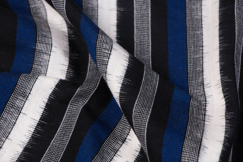 Traditional Pochampally Woven Double Ikat Handloom Cotton Fabric