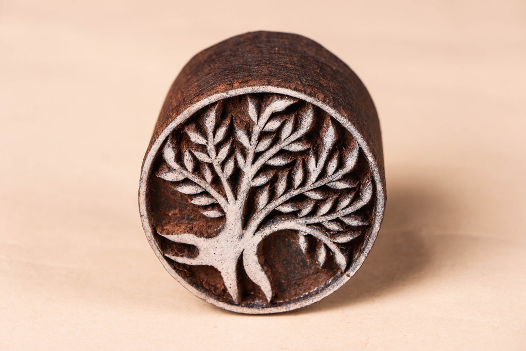 Hand-carved Sheesham Wood Block by Tahir