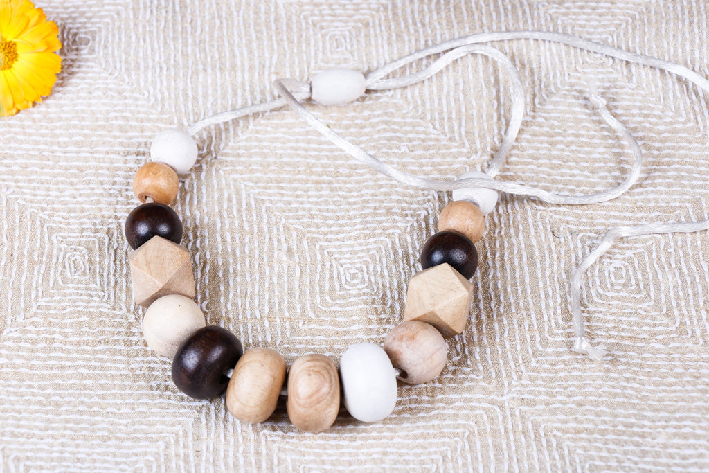 Handcrafted Mango & Neem Wood Necklace