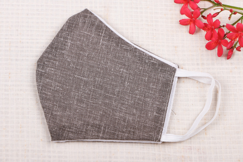 Plain Cotton Fabric SSMMS Filter 3 Layer Snug Fit Face Cover